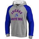 Chicago White Sox Comfort Colorblock Vintage Raglan Hoodie - Gray