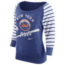 New York Mets Nike Women's Cooperstown Collection Gym Vintage Sweatshirt - Royal