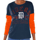 Detroit Tigers G-III Sports by Carl Banks Women's Team Defense Long Sleeve T-Shirt - Navy/Orange