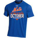 New York Mets Under Armour Youth 2015 Postseason This Is Our October Tech T-Shirt - Royal