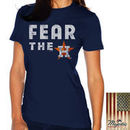 Houston Astros Majestic Threads Women's Fear The Team T-Shirt - Navy