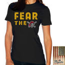 Pittsburgh Pirates Majestic Threads Women's Fear The Team T-Shirt - Black