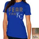 Kansas City Royals Majestic Threads Women's Fear The Team T-Shirt - Royal