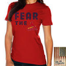 St. Louis Cardinals Majestic Threads Women's Fear The Team T-Shirt - Red