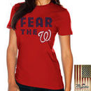 Washington Nationals Majestic Threads Women's Fear The Team T-Shirt - Red