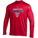 Washington Nationals Under Armour Loose Fit Performance Long Sleeve T-Shirt - Red