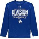 Los Angeles Dodgers Under Armour Division Conquered Long Sleeve Performance T-Shirt - Royal