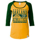 Oakland Athletics 5th & Ocean by New Era Women's Athletic Baby Jersey T-Shirt - Gold/Green