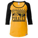 Pittsburgh Pirates 5th & Ocean by New Era Women's Athletic Baby Jersey T-Shirt - Gold/Black