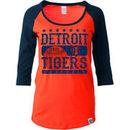 Detroit Tigers 5th & Ocean by New Era Women's Athletic Baby Jersey T-Shirt - Orange/Navy