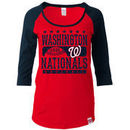 Washington Nationals 5th & Ocean by New Era Women's Athletic Baby Jersey T-Shirt - Red/Navy