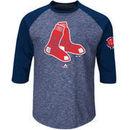 Boston Red Sox Majestic Big & Tall Ready to Go Fashion Raglan Three-Quarter Sleeve T-Shirt - Navy