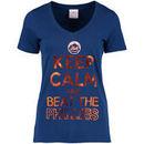 New York Mets 5th & Ocean by New Era Women's Keep Calm Rivalry T-Shirt - Royal