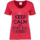 St. Louis Cardinals 5th & Ocean by New Era Women's Keep Calm Rivalry V-Neck T-Shirt - Red