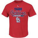 St. Louis Cardinals Majestic 2015 Postseason Part T-Shirt - Red