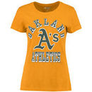 Oakland Athletics G-III Sports by Carl Banks Women's On Deck Scoop Neck T-Shirt - Gold