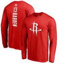 James Harden Houston Rockets Backer Long Sleeve T-Shirt - Red