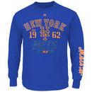 New York Mets Majestic Big & Tall Flawless Victory Long Sleeve T-Shirt - Royal