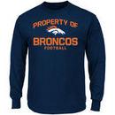 Denver Broncos Majestic Property Of Long Sleeve T-Shirt - Navy