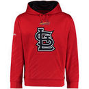 St. Louis Cardinals Stitches Pullover Fleece Hoodie with Contrast Hood - Red