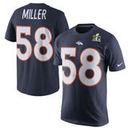 Von Miller Denver Broncos Nike Super Bowl 50 Player Pride Name & Number T-Shirt - Navy