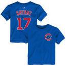 Kris Bryant Chicago Cubs Toddler Name & Number T-Shirt - Royal