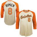 Cal Ripken Jr. Baltimore Orioles Majestic Threads Softhand Cotton Cooperstown 3/4-Sleeve Raglan T-Shirt - Cream