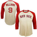 Ted Williams Boston Red Sox Majestic Threads Softhand Cotton Cooperstown 3/4-Sleeve Raglan T-Shirt - Cream