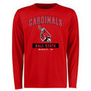 Ball State Cardinals Big & Tall Campus Icon Long Sleeve T-Shirt - Red