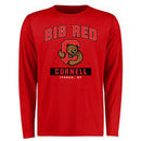 Cornell Big Red Big & Tall Campus Icon Long Sleeve T-Shirt - Red