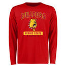 Ferris State Bulldogs Big & Tall Campus Icon Long Sleeve T-Shirt - Red