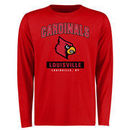 Louisville Cardinals Big & Tall Campus Icon Long Sleeve T-Shirt - Red