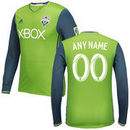Seattle Sounders FC adidas 2016/17 Authentic Primary Custom Long Sleeve Jersey - Rave Green