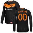 Houston Dynamo adidas 2016/17 Authentic Secondary Long Sleeve Custom Jersey - Black