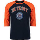 Detroit Tigers Majestic Don't Judge Cooperstown Three-Quarter Sleeve Raglan T-Shirt - Navy/Orange