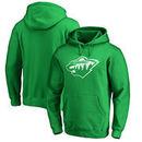 Minnesota Wild St. Patrick's Day White Logo Pullover Hoodie - Kelly Green