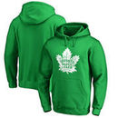 Toronto Maple Leafs St. Patrick's Day White Logo Pullover Hoodie - Kelly Green