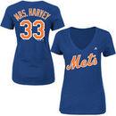 Matt Harvey New York Mets Majestic Women's Mrs. Harvey V-Neck T-Shirt - Royal