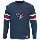 Houston Texans Majestic Power Hit Long Sleeve T-Shirt - Navy -