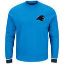 Carolina Panthers Majestic Classic Crew Sweatshirt - Blue