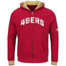 San Francisco 49ers Majestic Anchor Point Full-Zip Hoodie - Scarlet