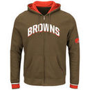 Cleveland Browns Majestic Anchor Point Full-Zip Hoodie - Brown