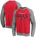 Chicago Bulls Pro Line Timeless Varsity Crew Neck Fleece Sweatshirt - Red
