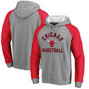 Chicago Bulls Fanatics Branded Timeless Color Block Hoodie - Heathered Gray