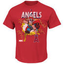 Los Angeles Angels Majestic Marvel Thor T-Shirt - Red