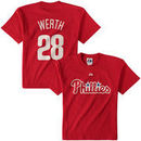 Jayson Werth Philadelphia Phillies Majestic Youth Name & Number T-Shirt - Red