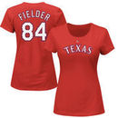 Prince Fielder Texas Rangers Majestic Women's Name & Number T-Shirt - Red