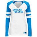 Carolina Panthers Majestic Women's Coin Toss V-Notch Long Sleeve T-Shirt - White