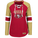 San Francisco 49ers Majestic Women's Winning Style Long Sleeve T-Shirt - Scarlet/Gold