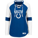 Indianapolis Colts Majestic Women's Winning Style Long Sleeve T-Shirt - Royal/White